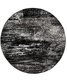 Safavieh Adirondack Silver and Black 8' x 8' Round Area Rug