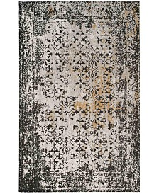 Safavieh Classic Vintage Black and Silver 6' x 6' Square Area Rug