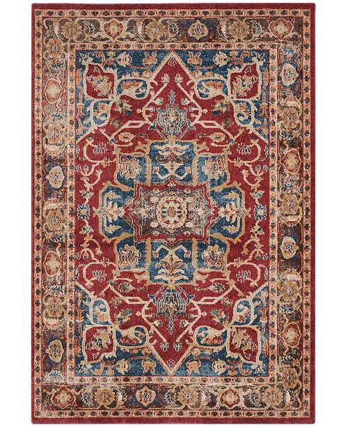 "Safavieh Bijar Red and Royal 6'7"" x 9' Area Rug"