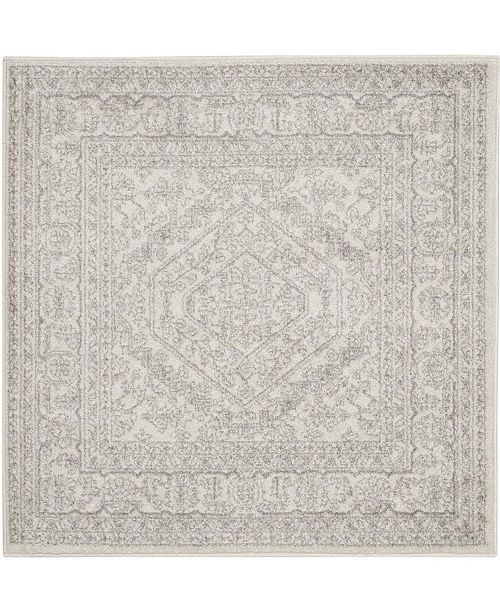 Safavieh Adirondack Ivory and Silver 9' x 9' Square Area Rug