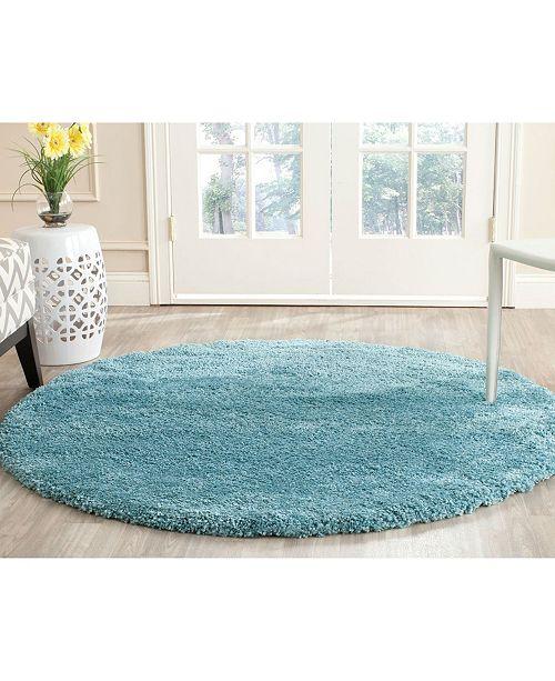 Safavieh Shag Aqua Blue 3 X Round