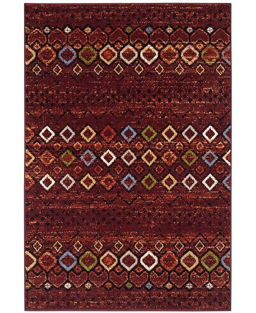 "Safavieh Amsterdam Terracotta and Multi 5'1"" x 7'6"" Area Rug"