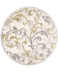Safavieh Amherst Ivory and Light Gray 5' x 5' Round Area Rug