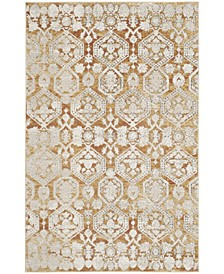 """Palermo Gold and Beige 5'1"""" x 7'6"""" Area Rug"""