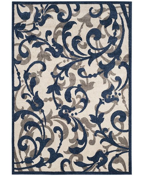 Safavieh Amherst Ivory and Navy 4' x 6' Area Rug