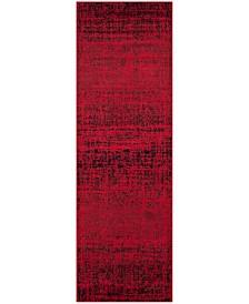 "Safavieh Adirondack Red and Black 2'6"" x 20' Runner Area Rug"