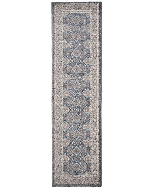 "Safavieh Sofia Light Grey and Beige 2'2"" x 14' Runner Area Rug"