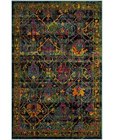 Safavieh Cherokee Black and Blue 6' x 9' Area Rug