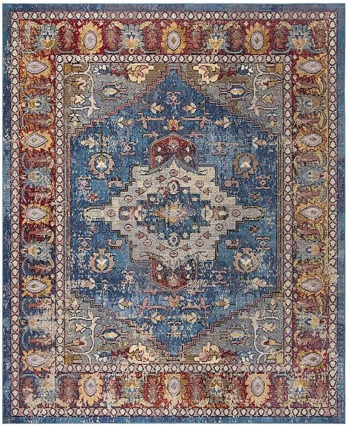 Safavieh Harmony Blue and Rose 9' x 12' Area Rug