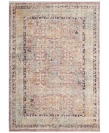 Illusion Rose and Light Gray 4' x 4' Square Area Rug