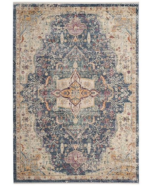 Safavieh Illusion Blue and Purple 4' x 4' Square Area Rug
