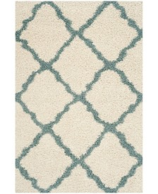 Dallas Ivory and Light Blue 10' x 14' Area Rug