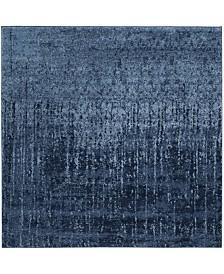 Safavieh Retro Light Blue and Blue 4' x 4' Square Area Rug