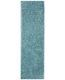 """Polar Light Turquoise 2'3"""" x 12' Runner Area Rug"""
