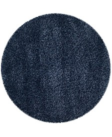 "California Navy 5'3"" x 5'3"" Round Area Rug"