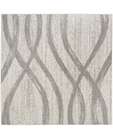 Adirondack Cream and Gray 8' x 8' Square Area Rug