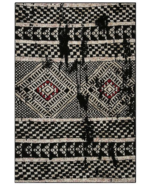Safavieh Adirondack Black and Light Gray 4' x 6' Area Rug