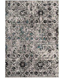 Adirondack Gray and Black 10' x 14' Area Rug