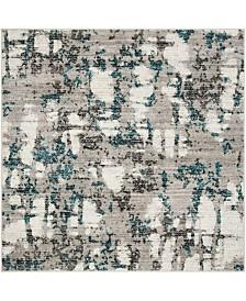 Safavieh Skyler Gray and Blue 8' x 8' Square Area Rug