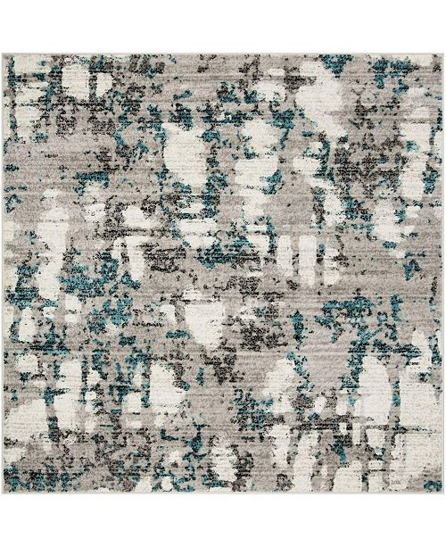 Safavieh Skyler Gray and Blue 8' x 8' Square Area Rug