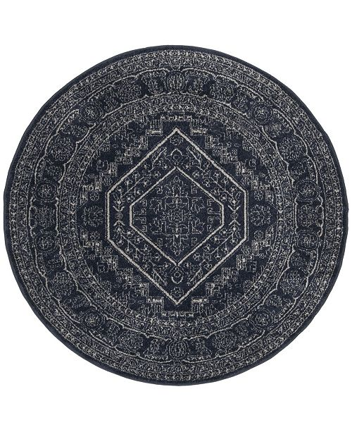 Safavieh Adirondack Navy and Ivory 4' x 4' Round Area Rug