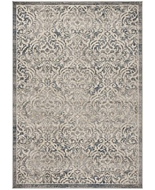 Brentwood Light Gray and Blue 3' x 5' Area Rug