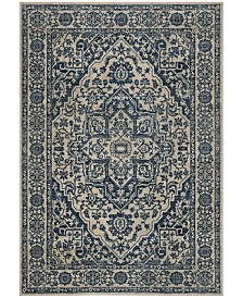 Safavieh Brentwood Navy and Light Gray 3' x 5' Area Rug