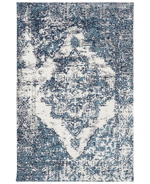 """Safavieh Classic Vintage Blue and Ivory 2'3"""" x 8' Runner Area Rug"""