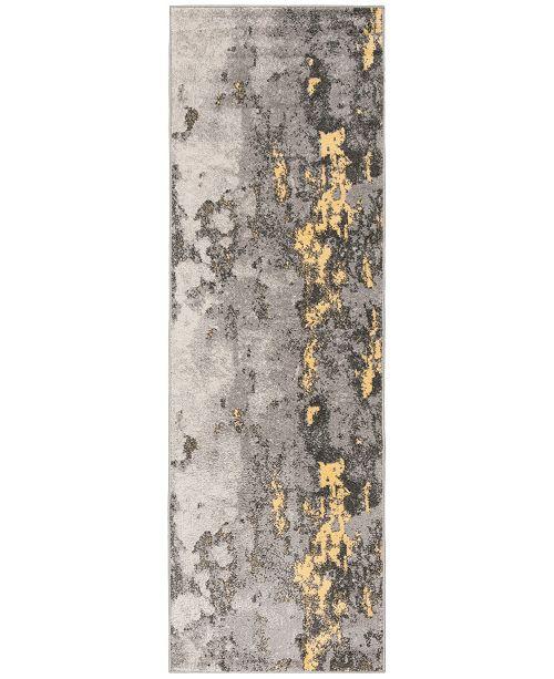 """Safavieh Adirondack Grey and Yellow 2'6"""" x 12' Runner Area Rug"""