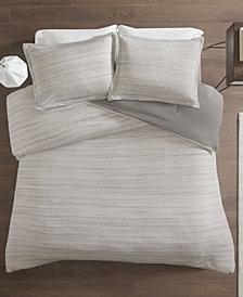 Urban Habitat Space Dyed King/Cal King 3 Piece Melange Cotton Jersey Knit Comforter Set