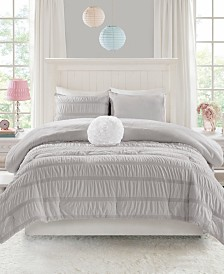 Mi Zone Bella Twin/Twin XL 3 Piece Ruched Seersucker Comforter Set with Microlight Reverse
