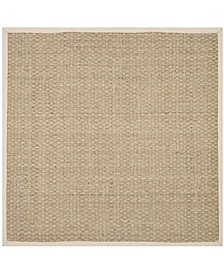 Natural Fiber Natural and Ivory 10' x 10' Sisal Weave Square Area Rug