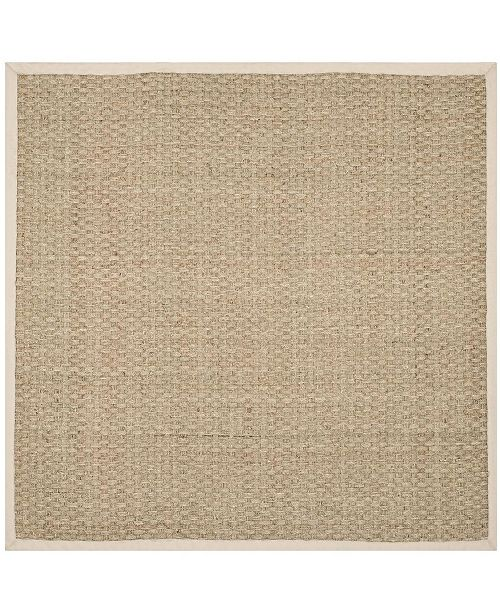 Safavieh Natural Fiber Natural and Ivory 10' x 10' Sisal Weave Square Area Rug