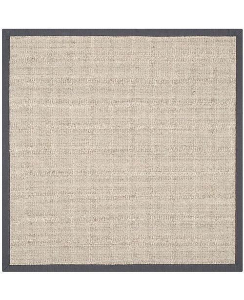 Safavieh Natural Fiber Marble and Gray 9' x 9' Sisal Weave Square Area Rug