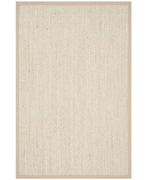 "Safavieh Natural Fiber Marble and Linen 2'6"" x 4' Sisal Weave Area Rug"