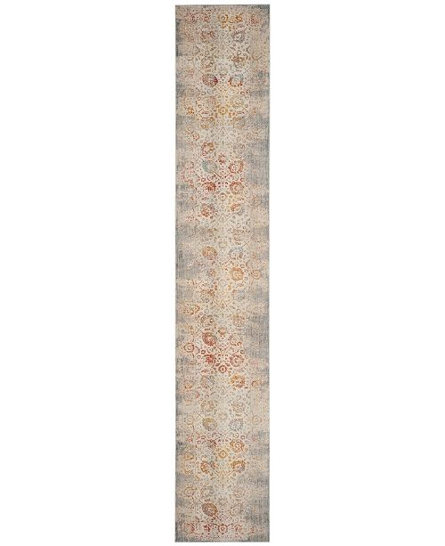 "Safavieh Vintage Persian Grey and Multi 2'2"" x 8' Runner Area Rug"