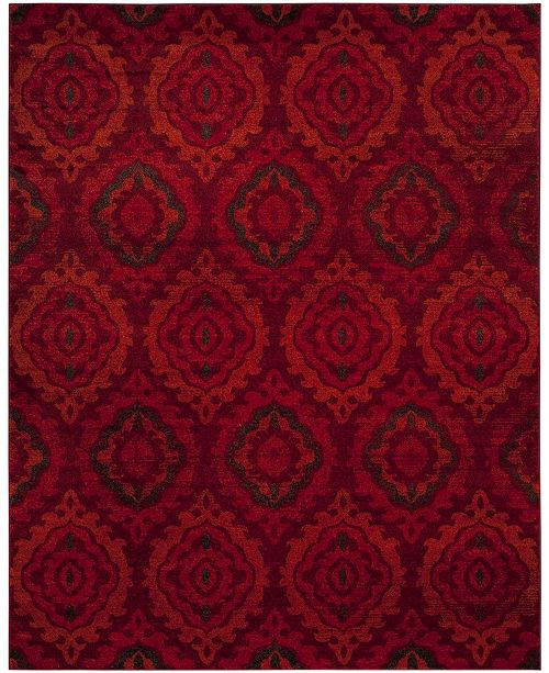 Safavieh Tunisia Red and Orange 8' x 10' Area Rug