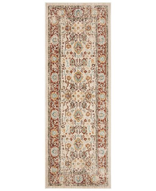 Safavieh Sutton Ivory and Brick 3' x 10' Runner  Area Rug