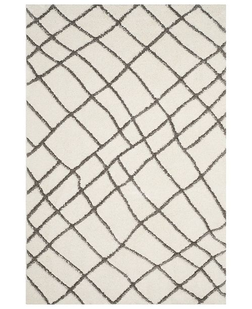 "Safavieh Sparta Ivory and Gray 6'7"" x 9'6"" Area Rug"