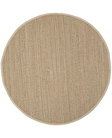 Natural Fiber Natural and Beige 9' x 9' Sisal Weave Round Area Rug