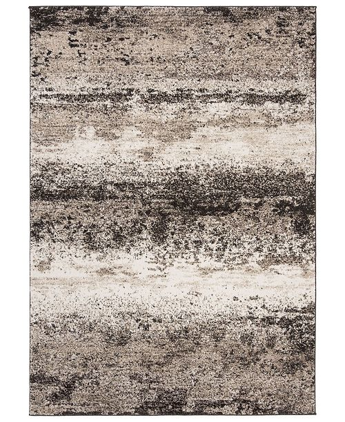 Safavieh Spirit Taupe and Black 4' x 6' Area Rug
