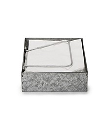 Galvanized Napkin Holder with Pivoted Arm