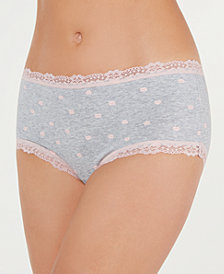 Jenni Cotton Lace Trim Hipster, Created for Macy's