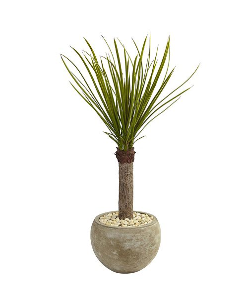 Nearly Natural 3.5' Yucca Artificial Tree in Sand Colored Bowl