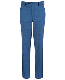 Lauren Ralph Lauren Big Boys Classic-Fit Stretch Blue Suit Pants