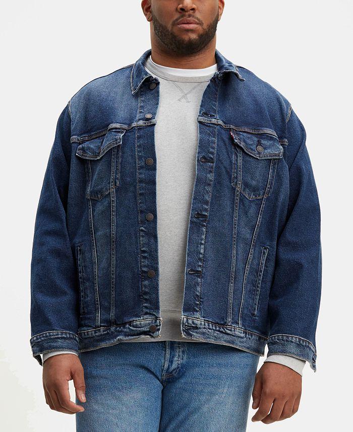 Levi's - Men's Big & Tall Stretch Denim Trucker Jacket