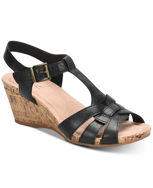 f5516c7b0095 b.o.c. Jaquet Wedge Sandals   Reviews - Sandals   Flip Flops - Shoes ...