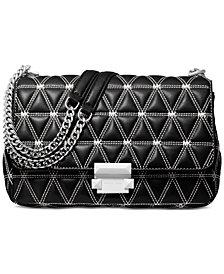 MICHAEL Michael Kors Sloan Logo Studded Chain Shoulder Bag