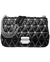 3b8e84c39cfe9 MICHAEL Michael Kors Sloan Logo Studded Chain Shoulder Bag