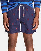 ba551e594c Polo Ralph Lauren Men's Big & Tall Traveler Embroidered Pony Swim Trunks
